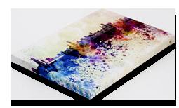 Three quarter inch canvas wrap