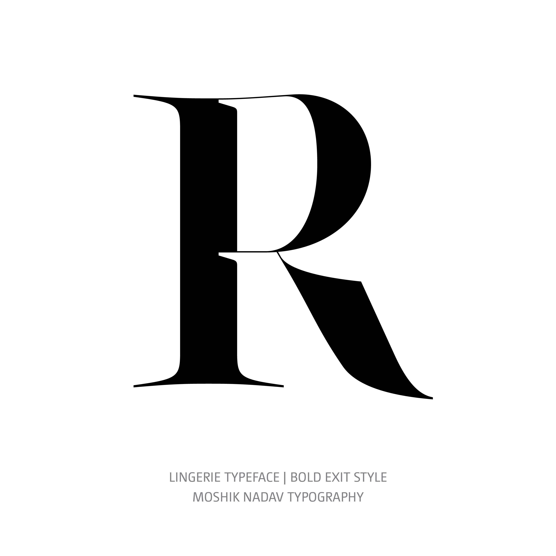 Lingerie Typeface Bold Exit R