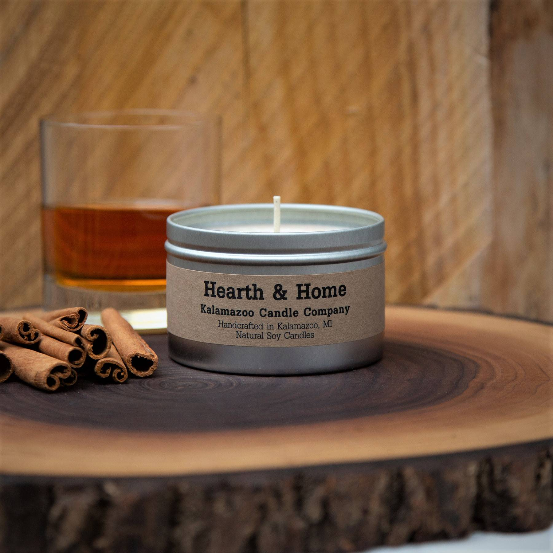 Hearth and Home natural soy wax scented candle
