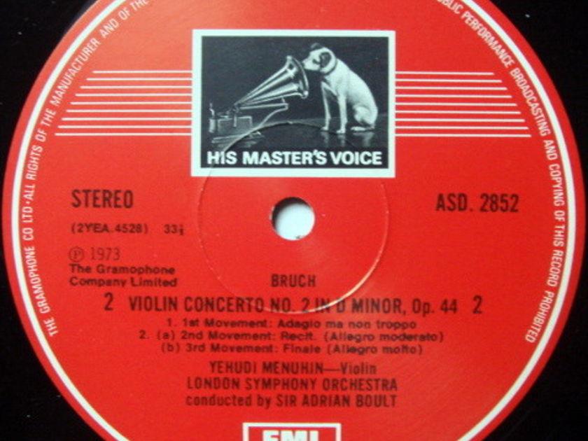 EMI ASD STAMP-DOG / MENUHIN-BOULT, - Bruch Violin Concerts No.1 & 2, MINT!