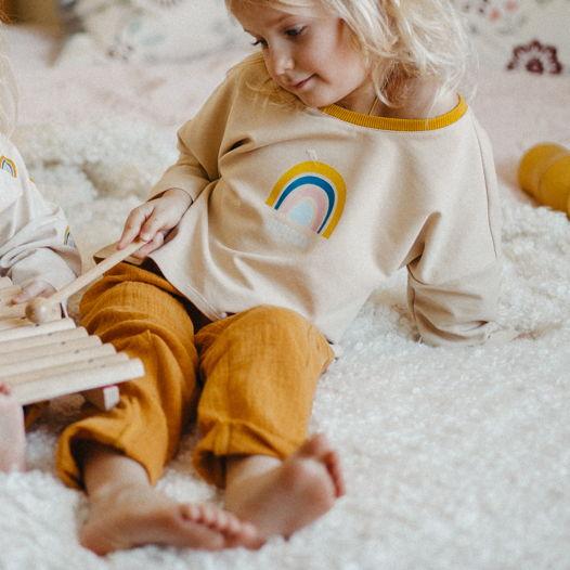 Детский лонгслив с принтом RAINBOW