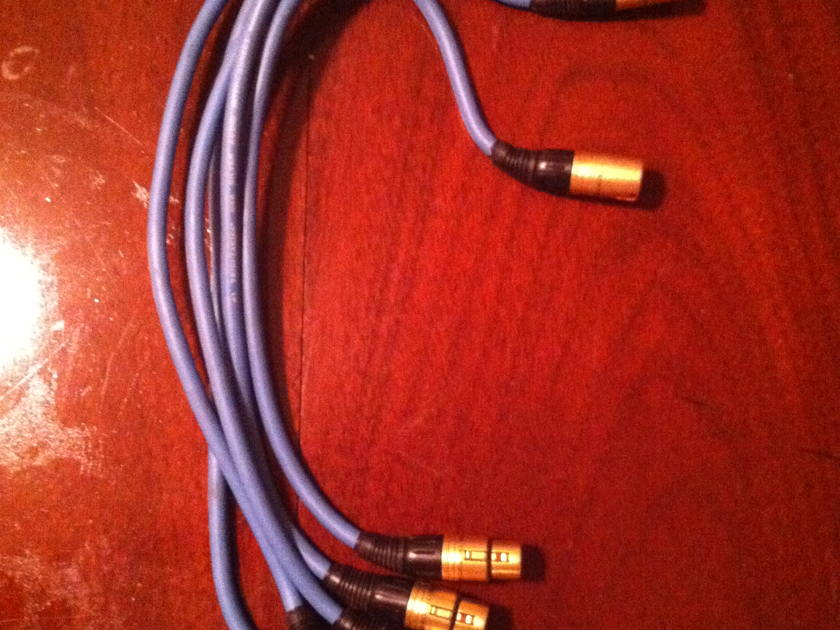 Tributaries 1/2 Meter Silver Audio XLR 5 total XLR cables