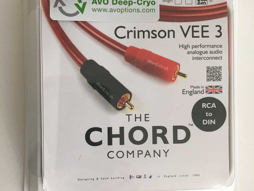 The Chord Company Crimson VEE 3 w AVO Deep-Cryo - 1M in excellent condition