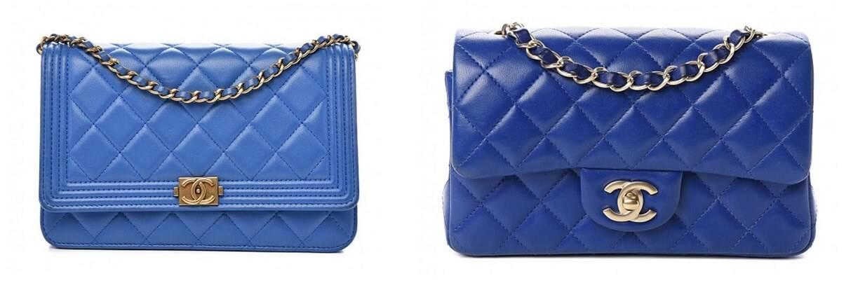 2 Chanel Handbags in Royal Blue Color