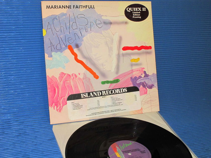 "MARIANNE FAITHFULL  -  ""A Childs Adventure"" - Island Records 1983 Promo w/DJ Strip Limited Edition"