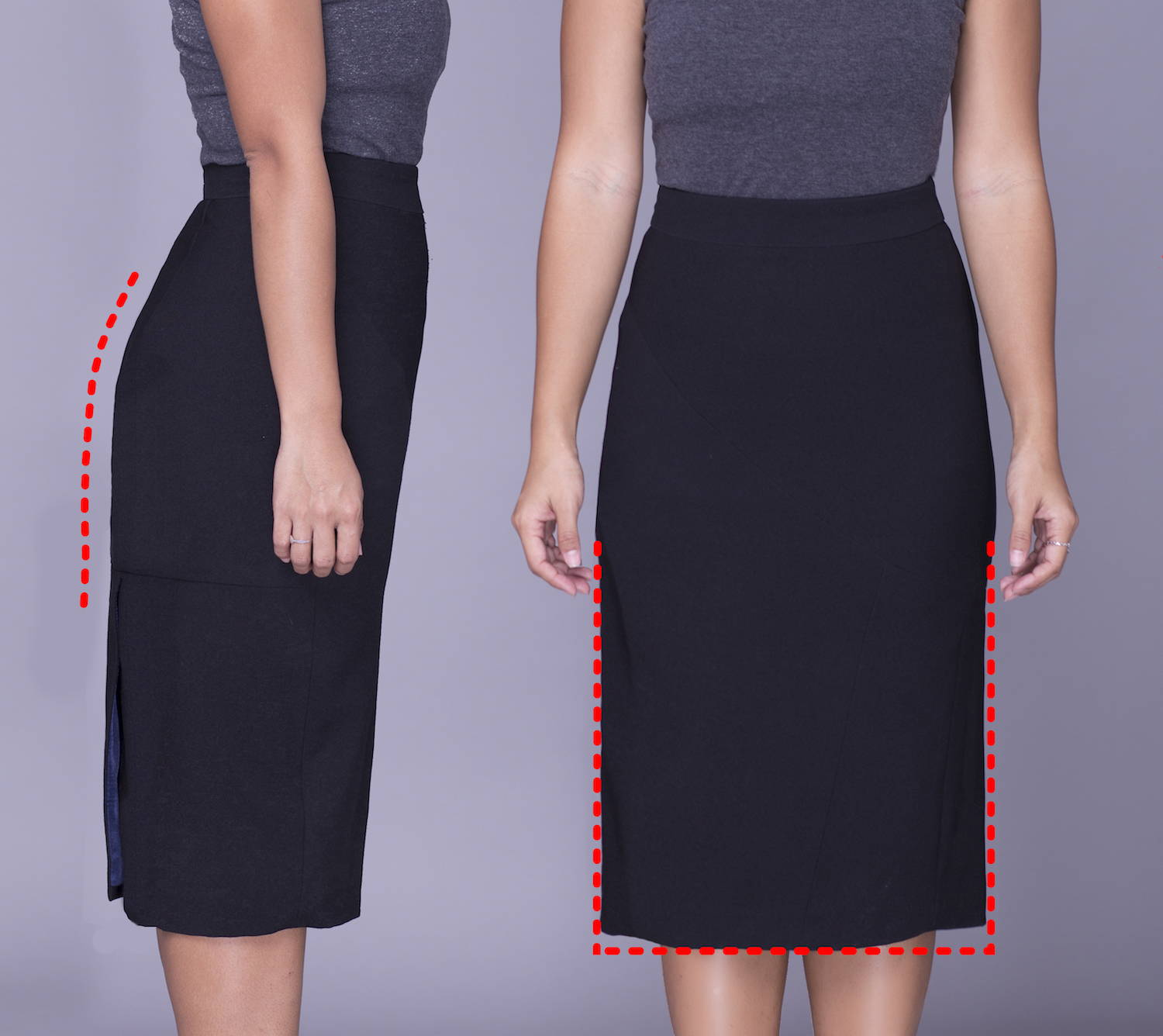 Rita Phil custom pencil skirts | Sheath fit