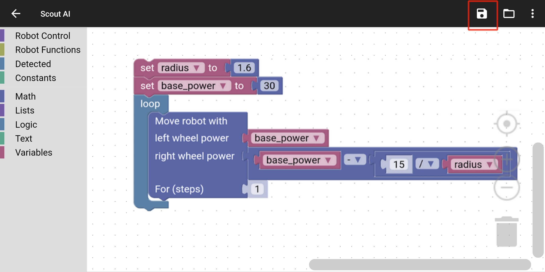 Nabot AI smart robot saving sample code