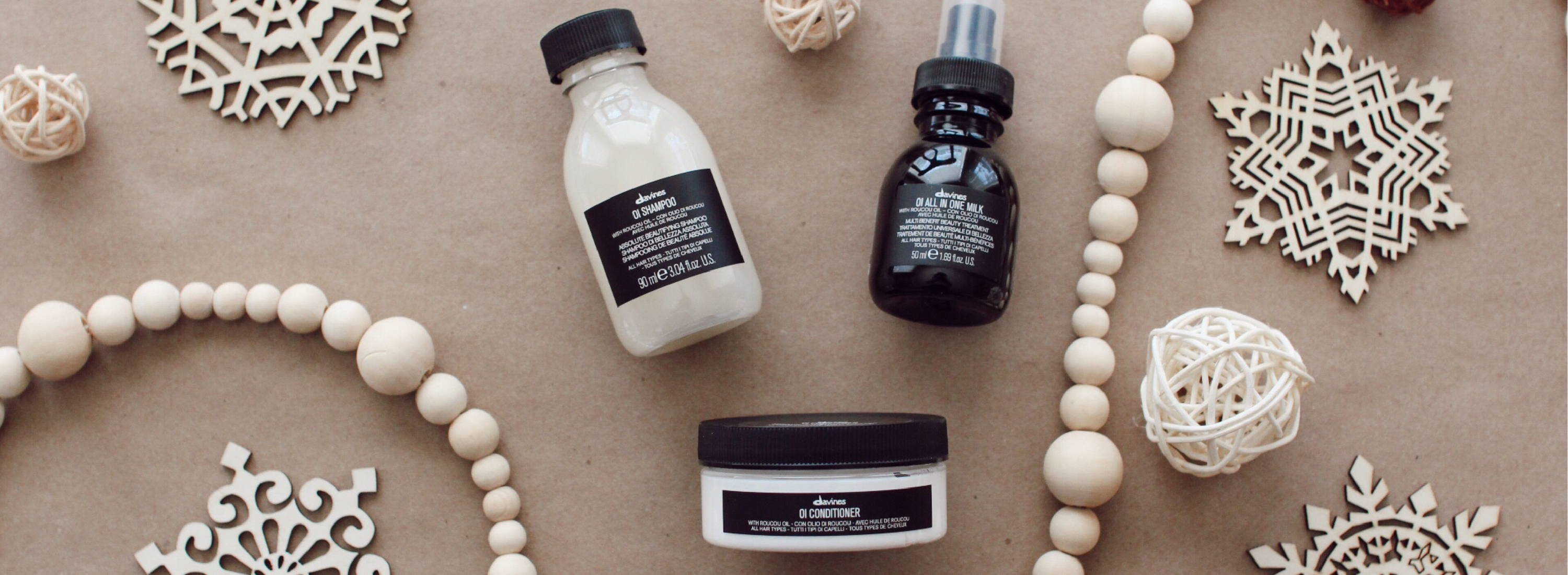 OI Travel bundle Davines holiday gift guide