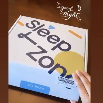 Sleep zone bedding website store home page twitter social media pillow box
