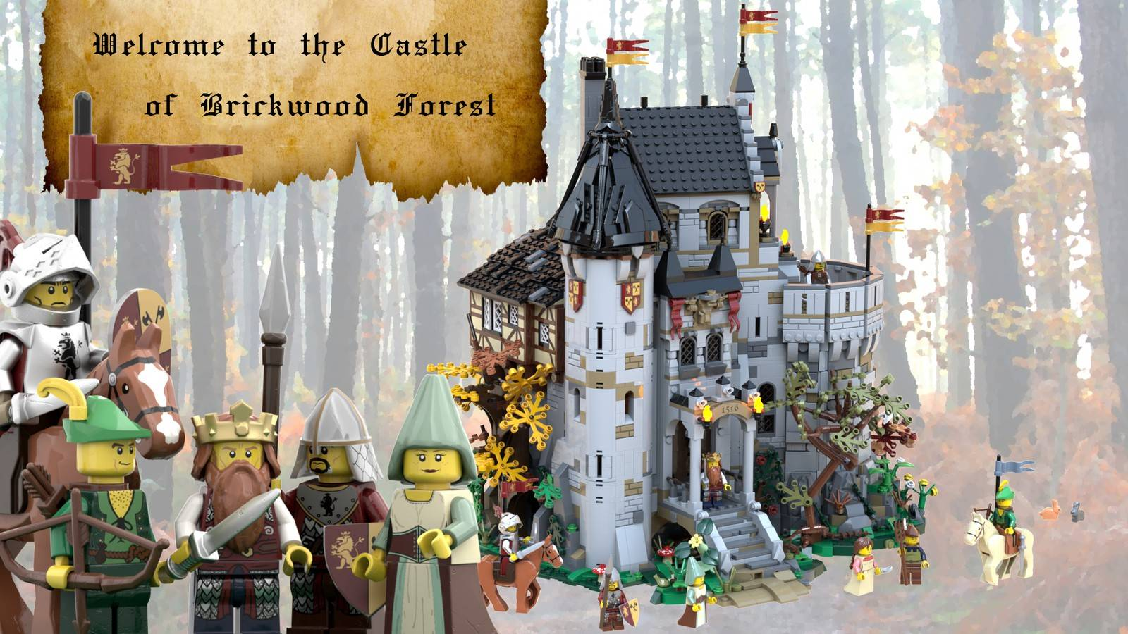 The castle of brick wood