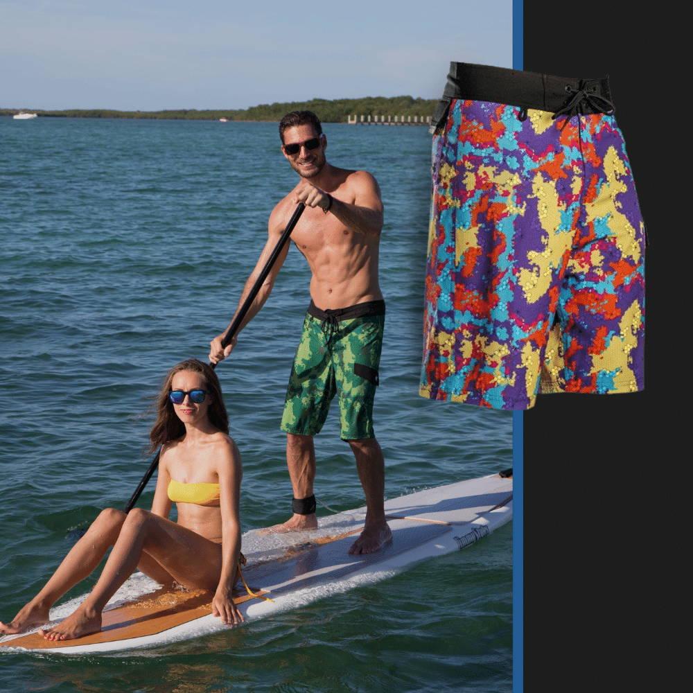 long mens board shorts for water