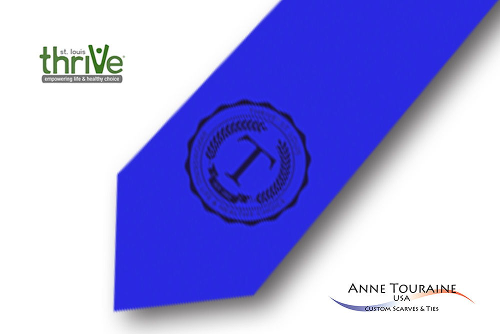 Solid-colored-custom-ties-with-a-seal-design-style-blue