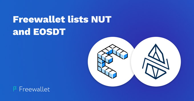 Freewallet lists EOS-based NUT and EOSDT