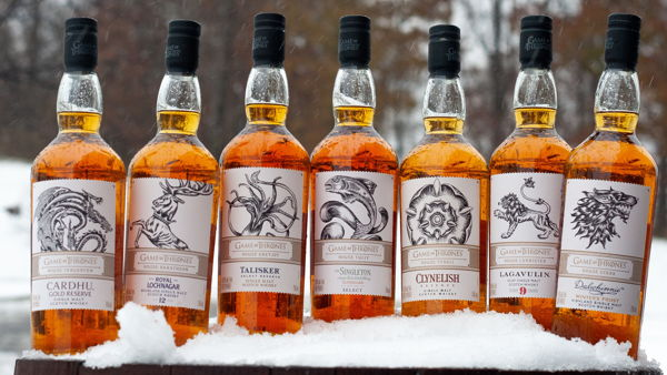 Game of Thrones (GOT) example #399: Diageo Launches A Whole Series of Game of Thrones Inspired Scotch Whiskies
