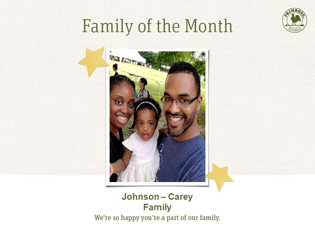 family of the month johnson carey family