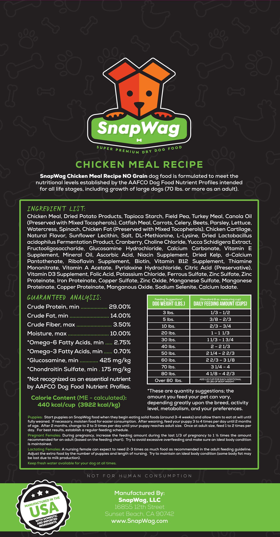 Chicken Meal Dog Food Recipe Label - SnapWag.com