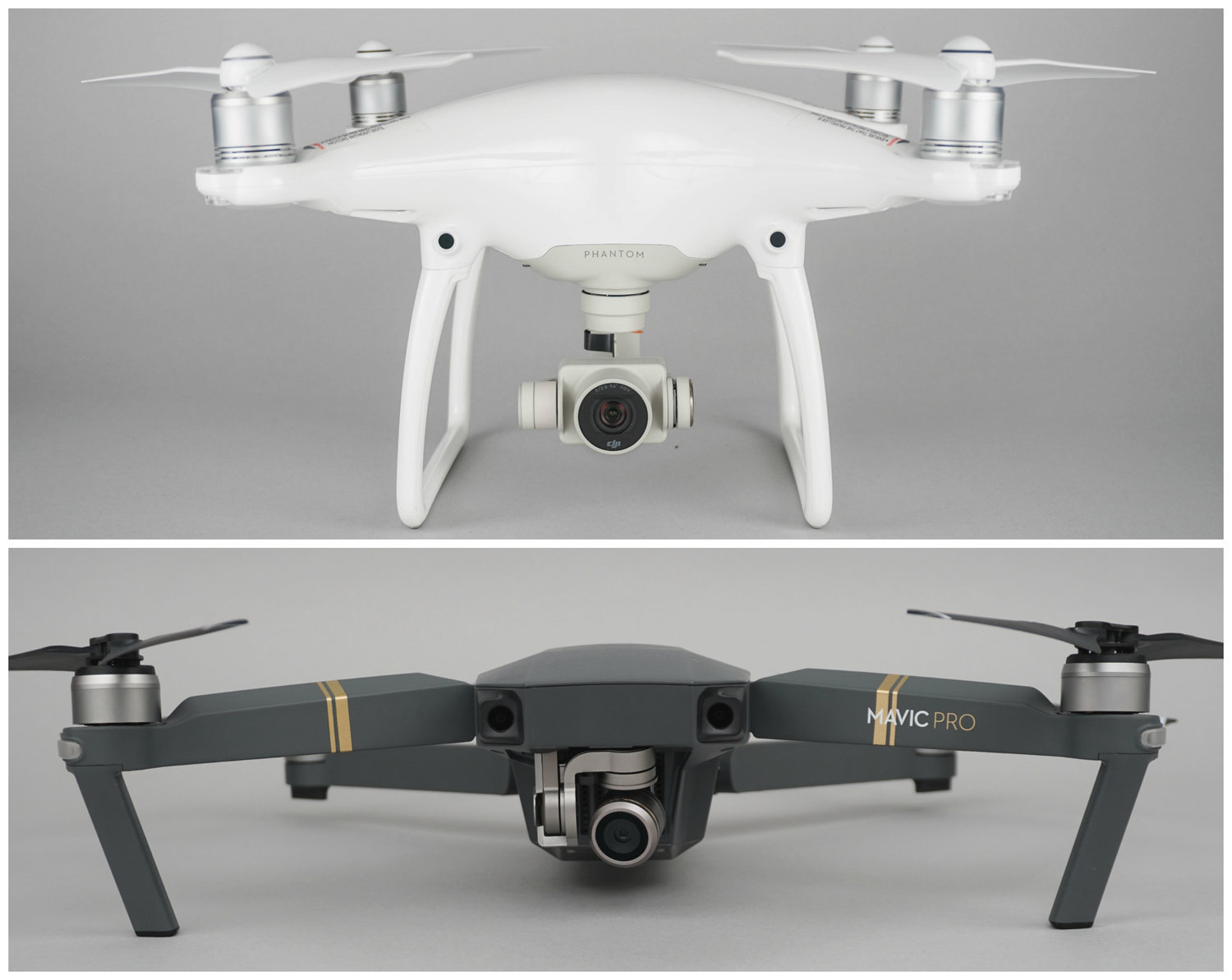Both drones differ in size and functionality