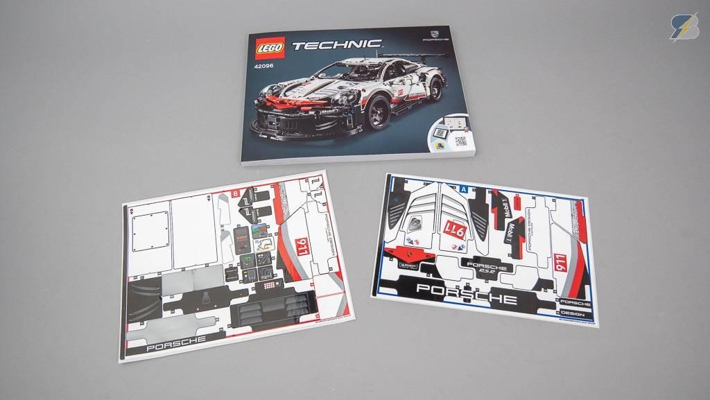 LEGO Porsche 911 RSR 42096 stickers