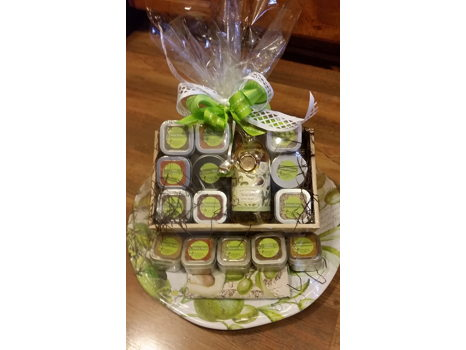 Heart Rock Herb & Spice Basket