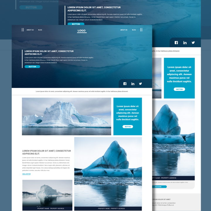 Iceberg template's featured image