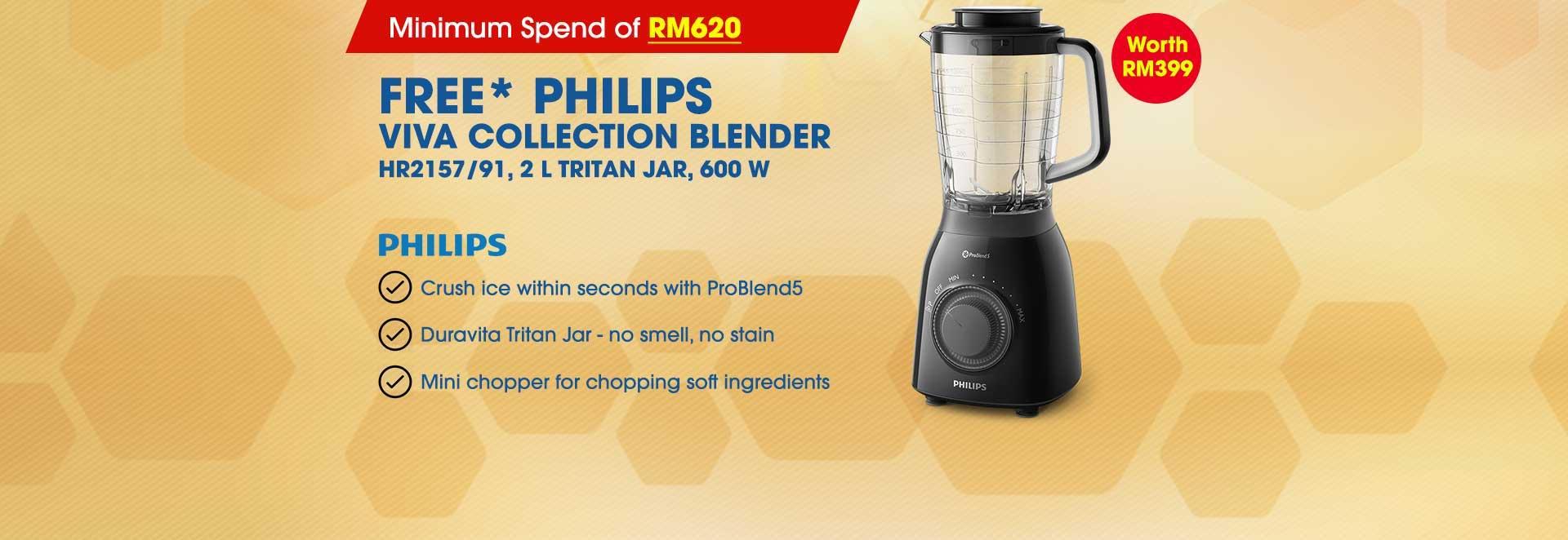 free philips viva collection blender