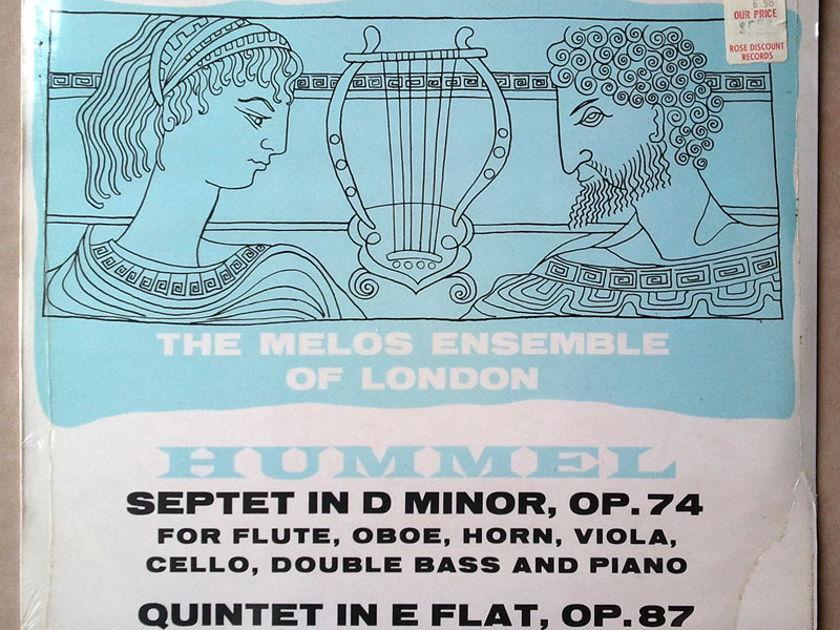 Sealed L'OISEAU LYRE | MELOS ENSEMBLE/HUMMEL - Septet Op. 74, Quintet Op. 87