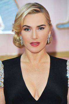 Kate Winslet side swept updo or upstyle