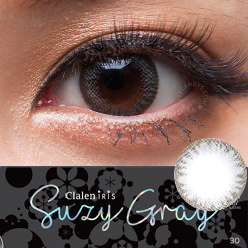 Clalen Iris Suzy Gray circle contact lenses