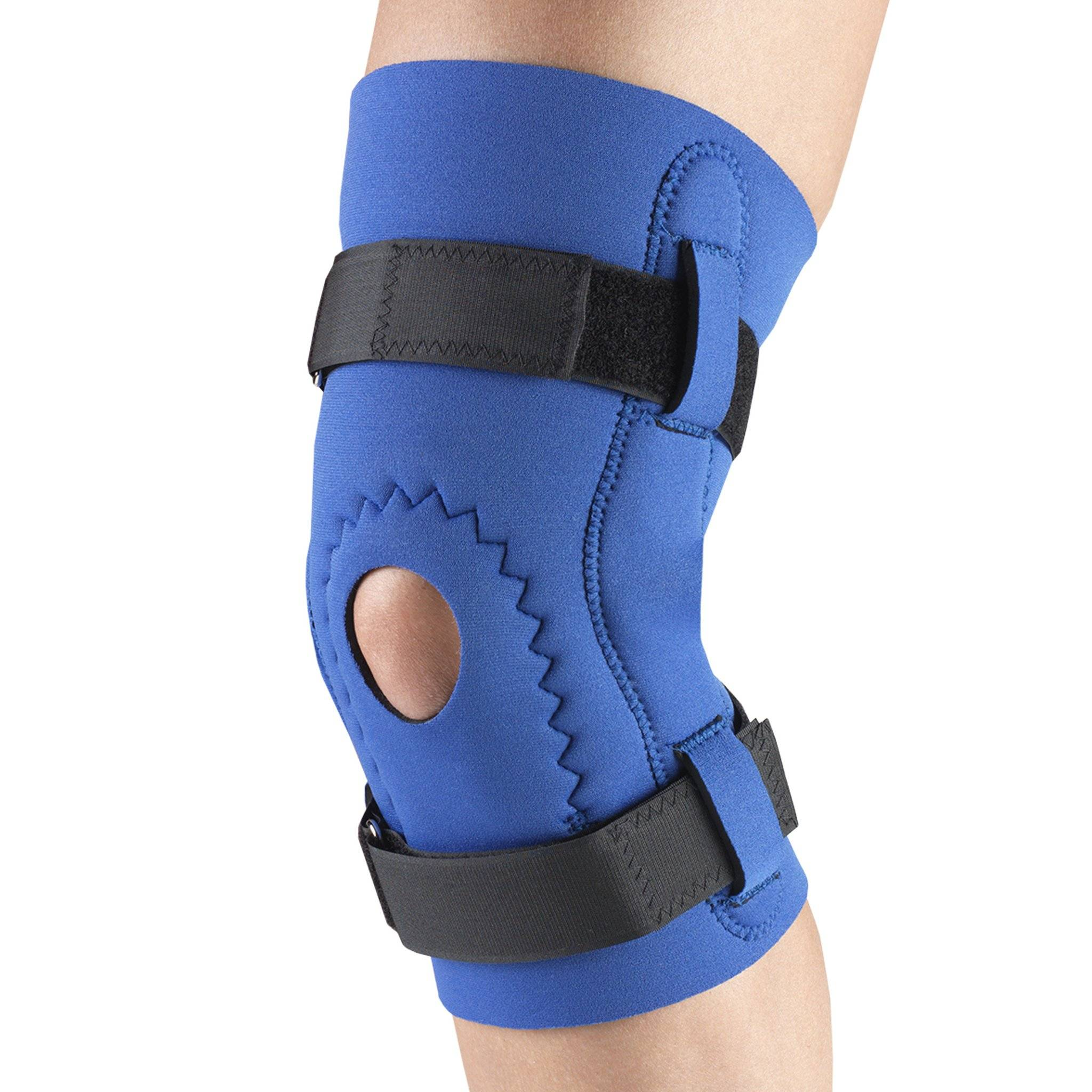 0143 / NEOPRENE KNEE SLEEVE - HOR-SHU PAD, HINGED BARS