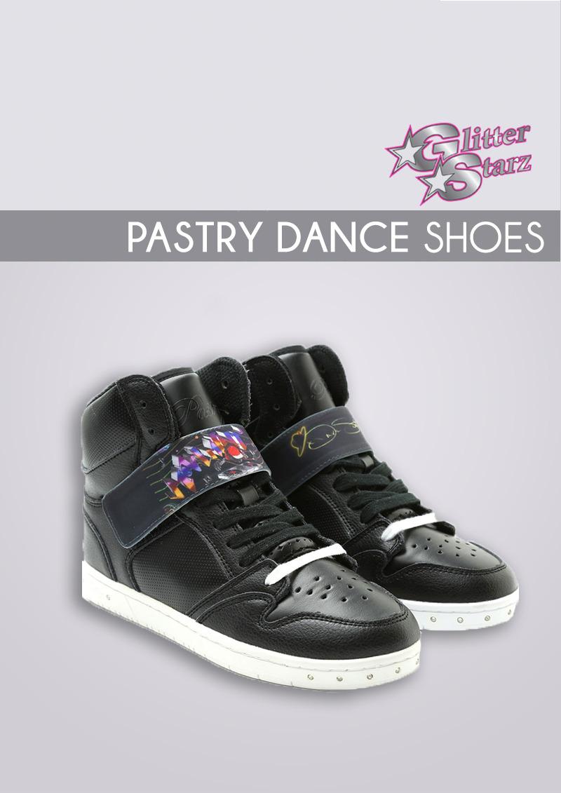 pastry dance shoes no limit glitterstarz custom strap black high top