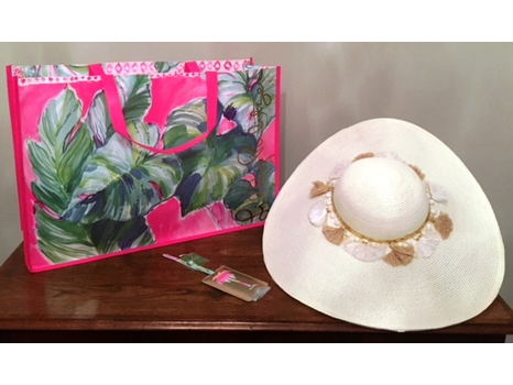 Lilly Pulitzer Hat & Luggage Tag