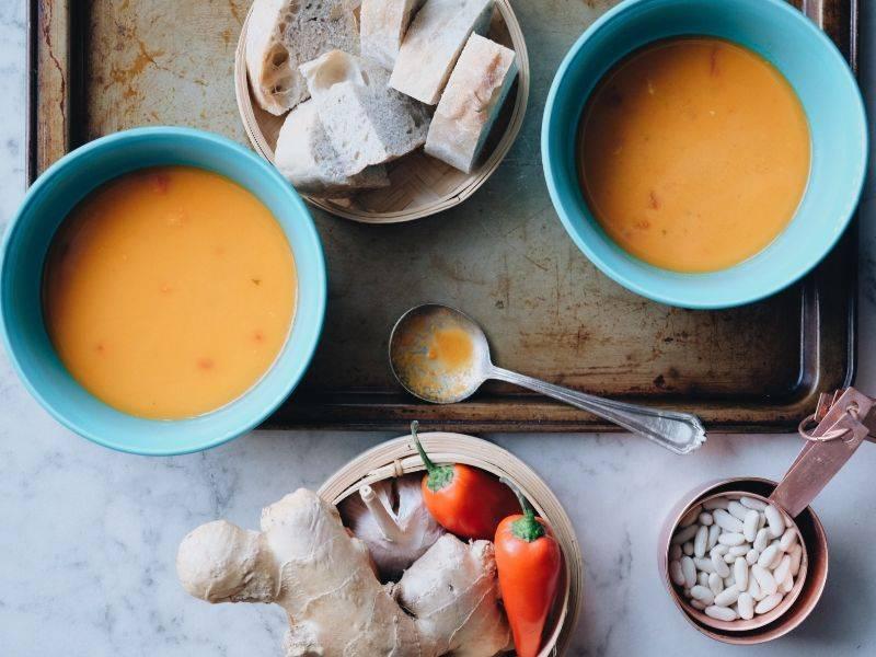 soupe thaie au lait de coco la boite du chef
