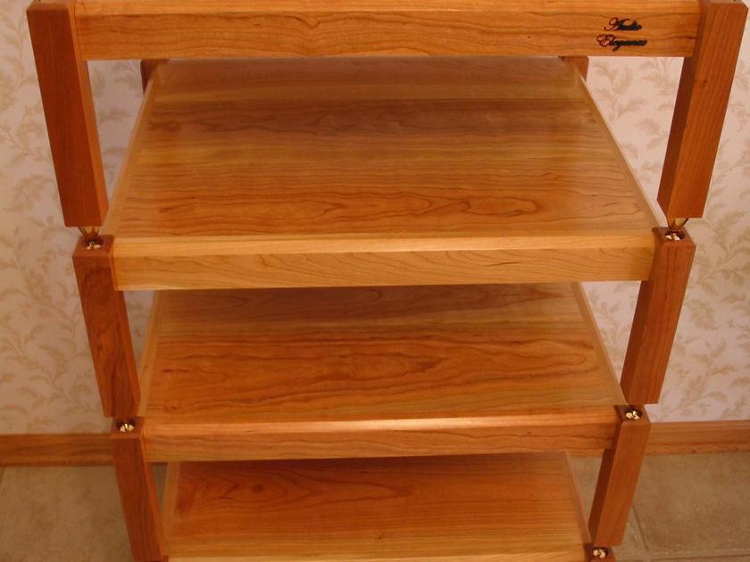 Audio Elegance Dakota Cherry wood five tier stand