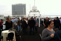 Mixing and mingling on the Laser App dinner cruise.