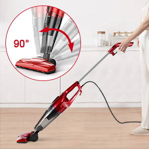 Aposen 15KPA Lightweight Quiet Corded Stick Vacuum with powered floor head