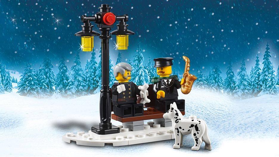 lego winter village dog