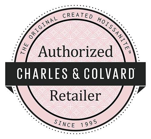 Logo d'autorisation des distributeurs de la maison Charles et Colvard, fabricant de moissanite