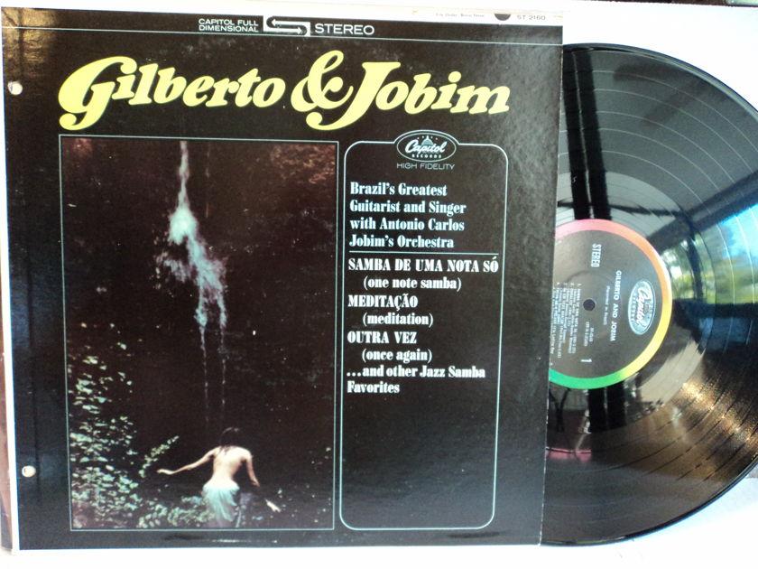Joao Gilberto Antonio Carlos Jobim - Gilberto & Jobim ST 2160 1964 Capitol Rainbow Colorband NM