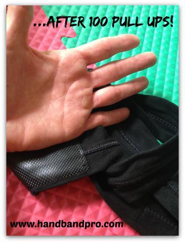 HandBand Pro® prevents blisters and rips after 100 pull ups during Murph!