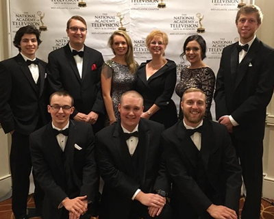 Undergraduate's passion leads to Mid-Atlantic Emmy