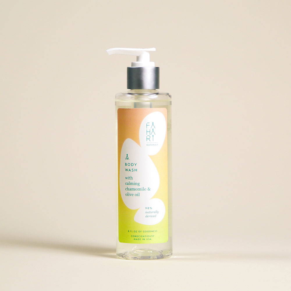 BODY WASH WITH CALMING CHAMOMILE & OLIVE OIL