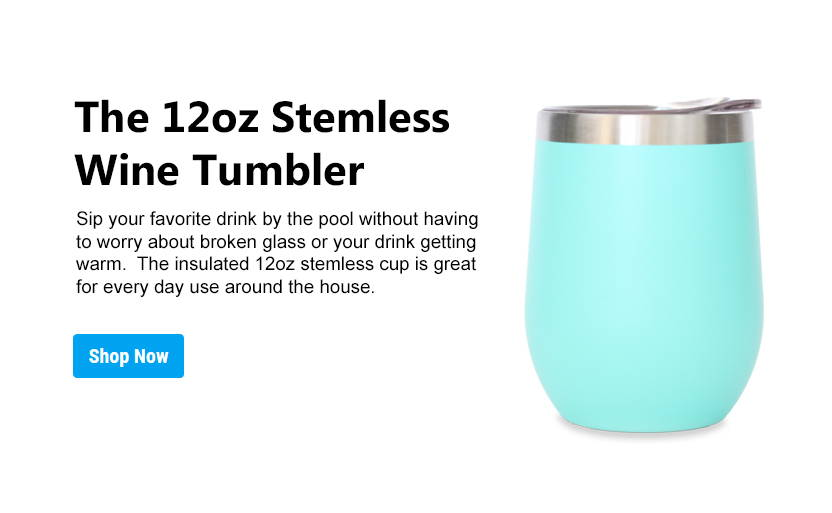 12oz stemless wine tumbler collection