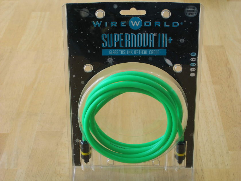 Wireworld Supernova III+ 2m glass toslink optical