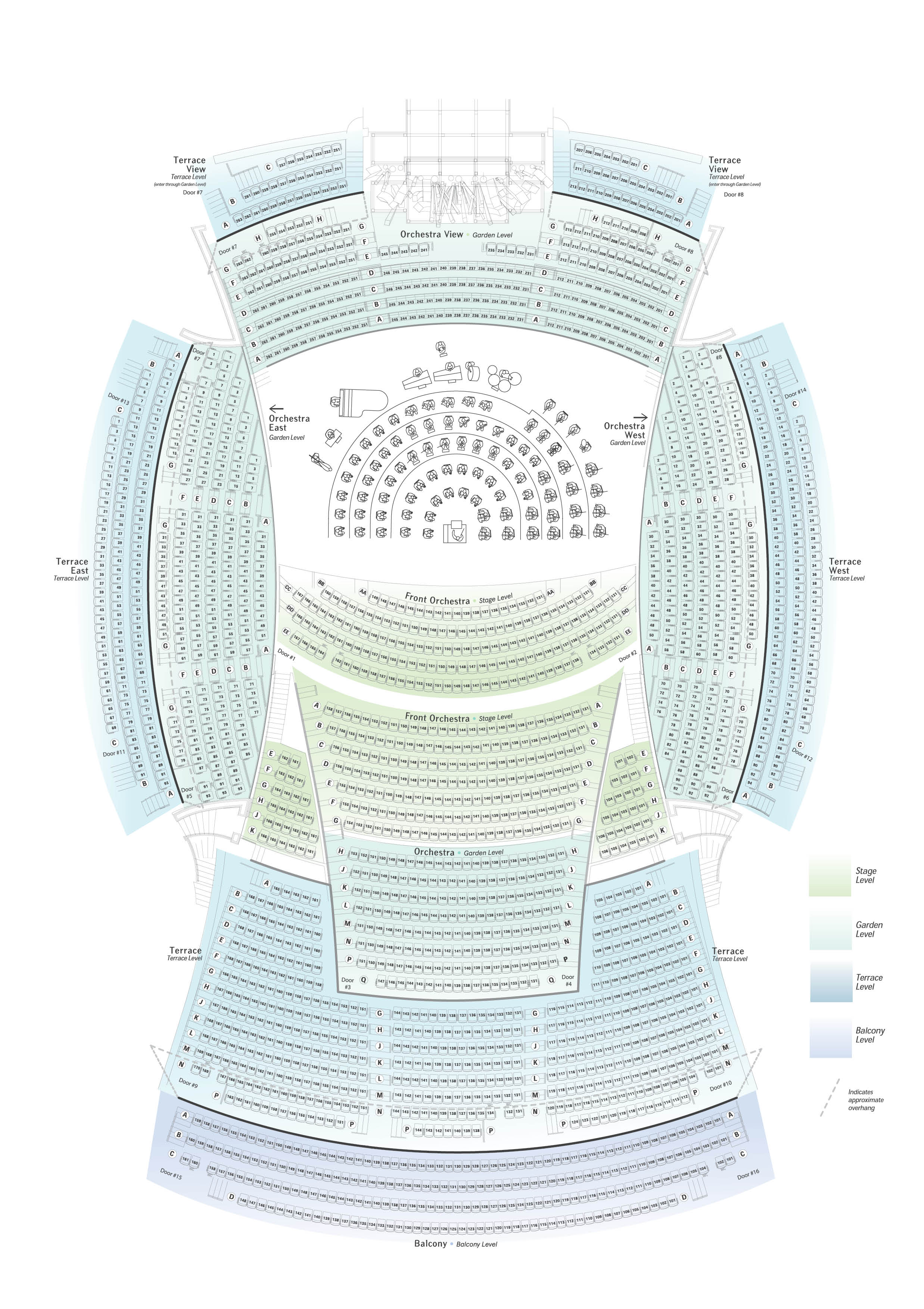 Seating chart la phil