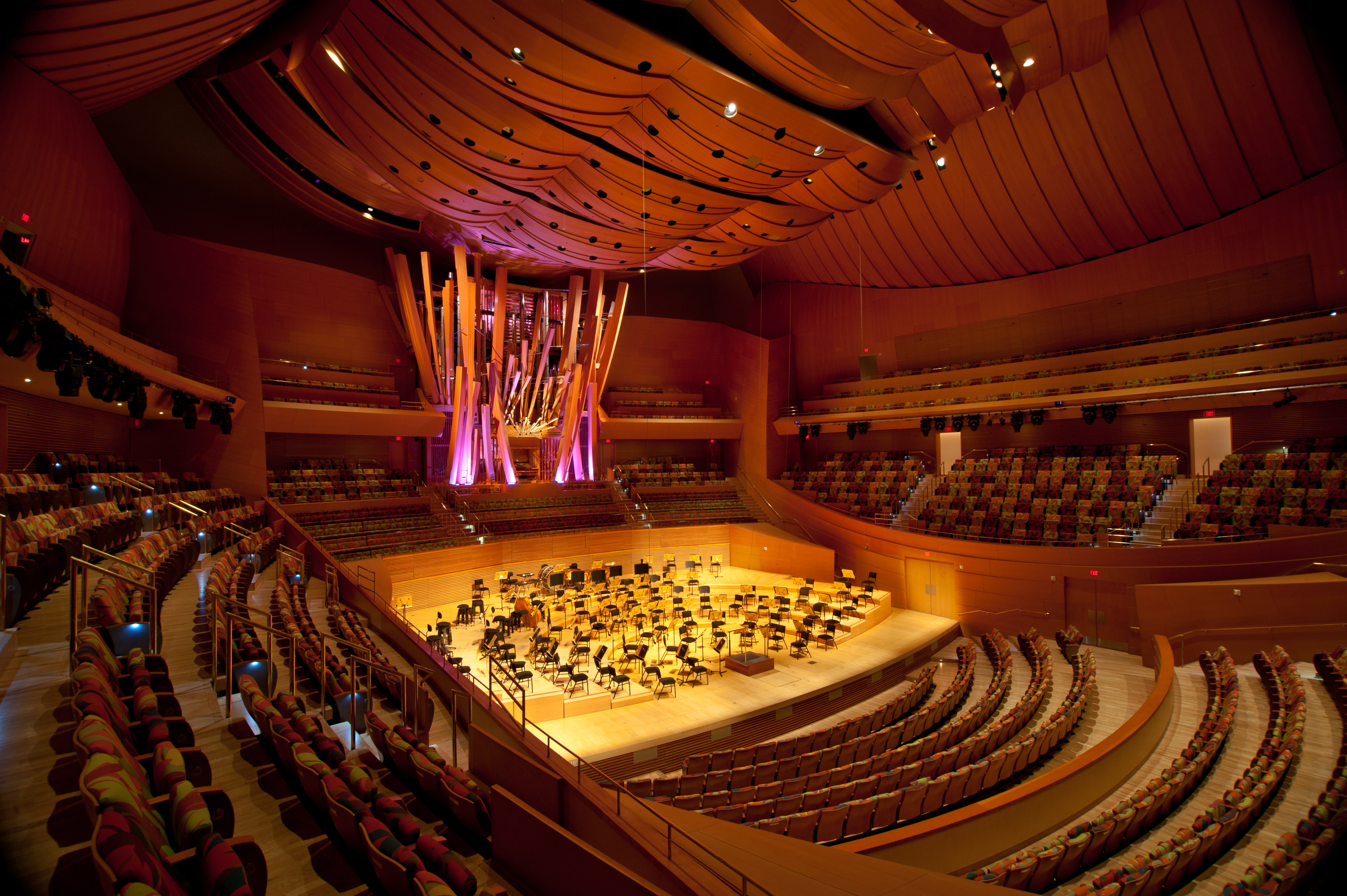 Image result for disney concert hall inside