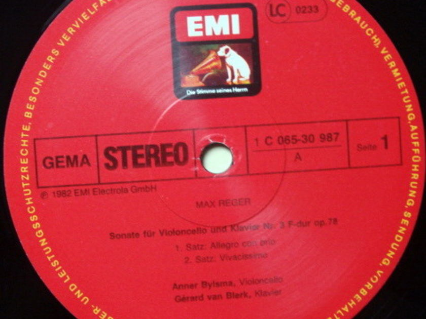 EMI HMV / ANNER BYLSMA, - Reger Cello Sonata No.3, MINT!