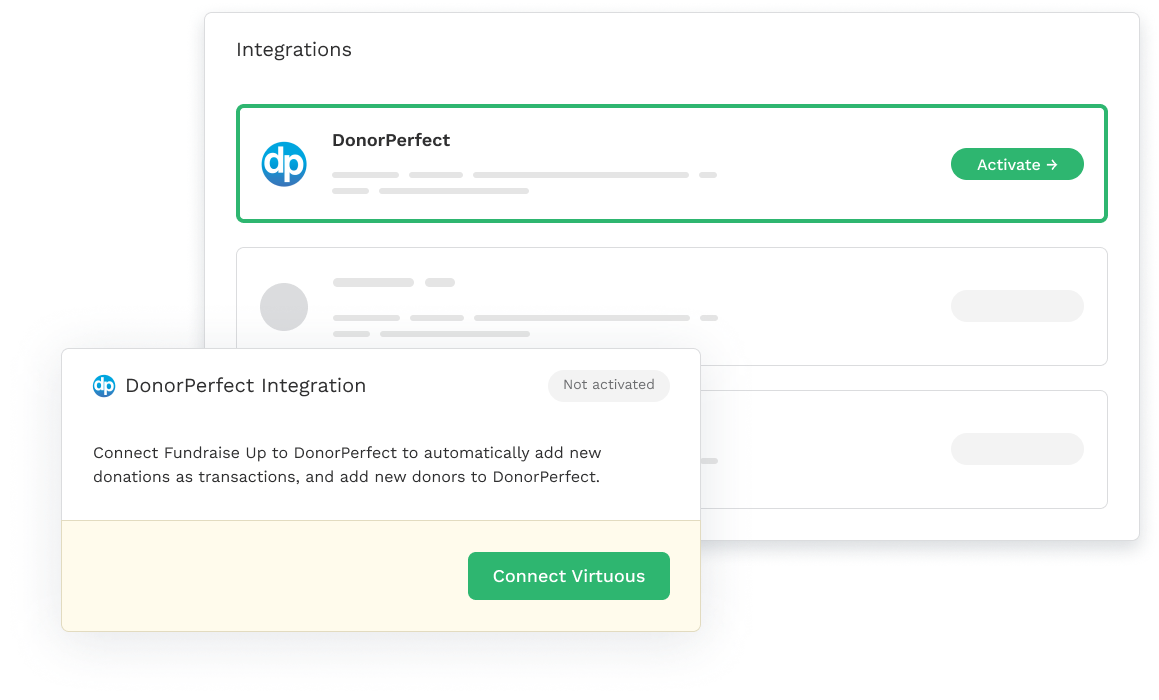 DonorPerfect Integration