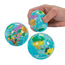 Lego Globe Stress Ball priced for