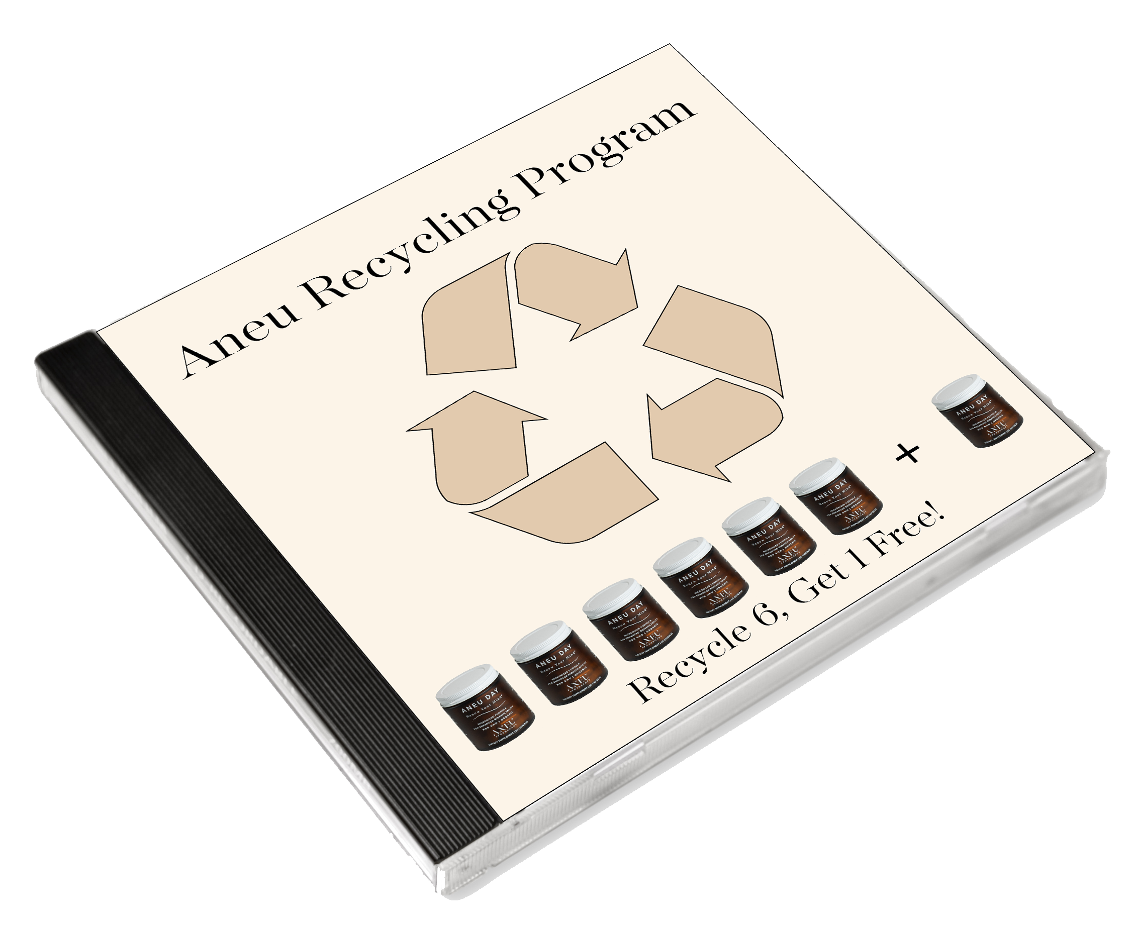 aneu recycling program on a CD case