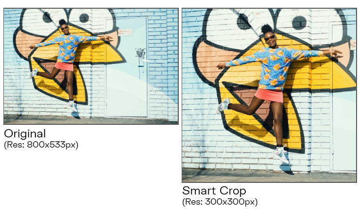 Apply smart crop online to create thumbnails